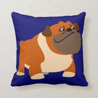 Cute Cartoon English Bulldog Pillow