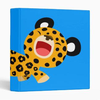 Cute Cartoon Facetious Leopard Avery Binder