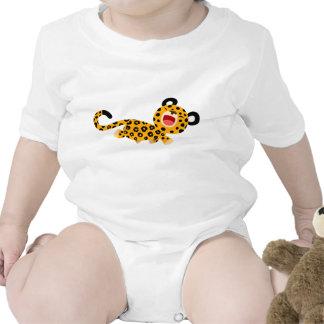 Cute Cartoon Facetious Leopard Baby Creeper