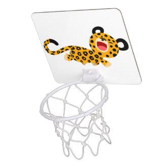 Cute Cartoon Facetious Leopard Basketball Hoop Mini Basketball Backboards