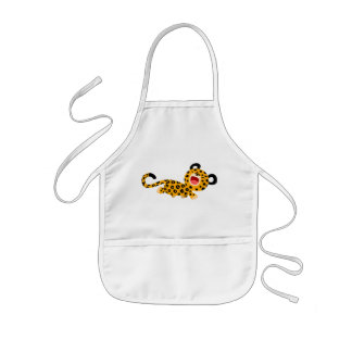 Cute Cartoon Facetious Leopard Children Apron