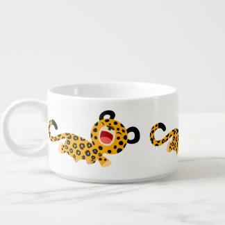 Cute Cartoon Facetious Leopard Chili Bowl