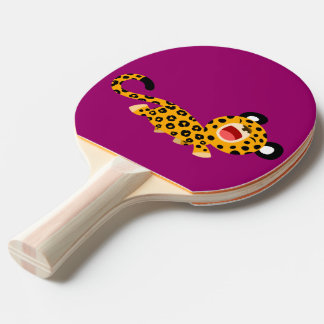 Cute Cartoon Facetious Leopard Ping Pong Paddle