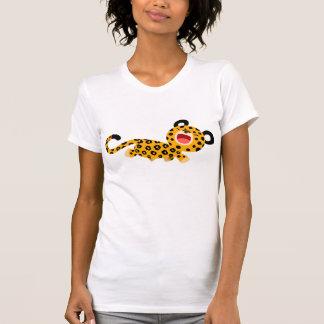 Cute Cartoon Facetious Leopard Women T-Shirt