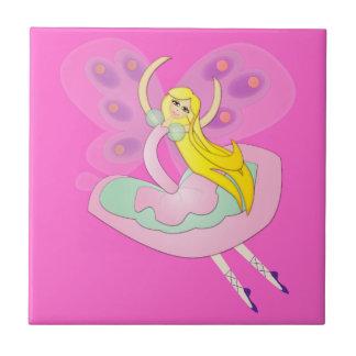 Cute Cartoon Fairy Small Square Tile