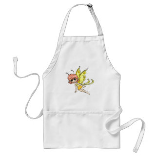 Cute cartoon fairy with yellow wings adult apron