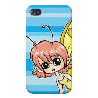 Cute cartoon fairy with yellow wings iPhone 4/4S cover