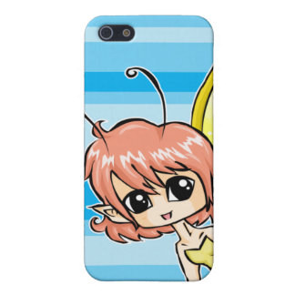 Cute cartoon fairy with yellow wings iPhone SE/5/5s case