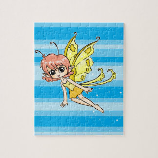 Cute cartoon fairy with yellow wings puzzles