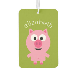 Cute Cartoon Farm Pig - Pink and Lime Green