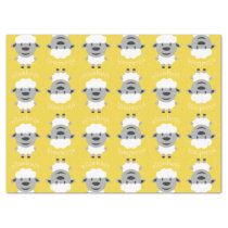 Cute Cartoon Farm Sheep - yellow and gray Tissue Paper