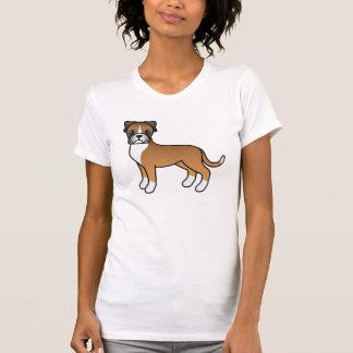 Cute Cartoon Fawn Boxer Dog Shirt