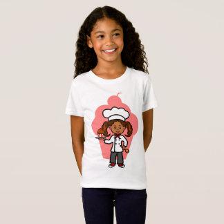 Cute Cartoon Female Chef Holding Cupcake T-Shirt