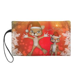 Cute cartoon figure wish you, Merry Christmas Wristlet Clutch