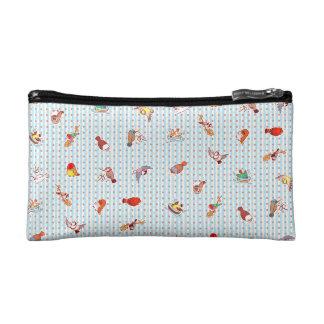 Cute cartoon finches pattern makeup bag