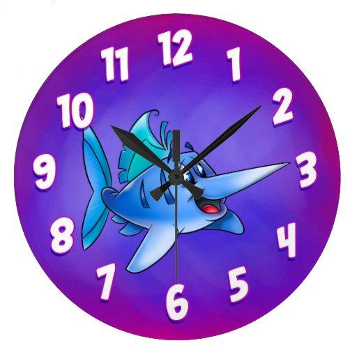 Cute Cartoon Fish Clock Zazzle
