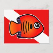 Cute Scubadorable Flame Angelfish Dive Flag