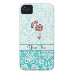 Cute Cartoon Flamingo Case-Mate iPhone 4 Cases