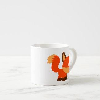Cute Cartoon Fox  And Butterfly Espresso Mug
