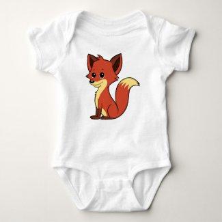 Cute Cartoon Fox Baby Bodysuit