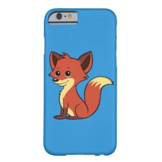 Cute Cartoon Fox Blue iPhone 6 Case
