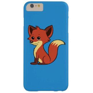 Cute Cartoon Fox Blue iPhone 6 Plus Case