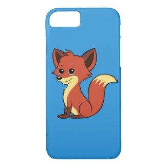 Cute Cartoon Fox Blue iPhone 7 Case