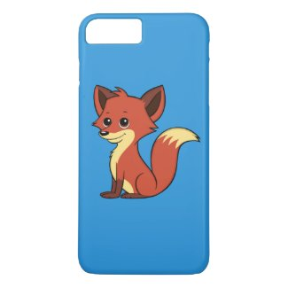 Cute Cartoon Fox Blue iPhone 7 Plus Case