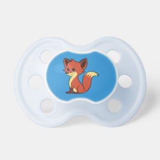 Cute Cartoon Fox Blue Pacifier