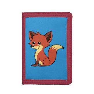 Cute Cartoon Fox Blue Wallet