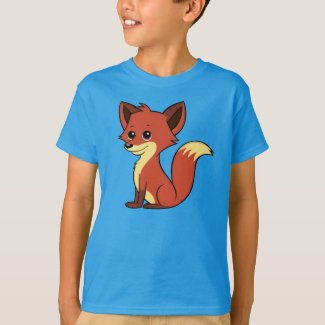 Cute Cartoon Fox Boy's T-Shirt