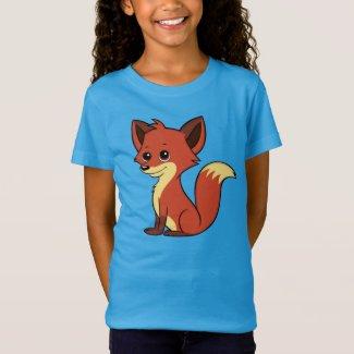 Cute Cartoon Fox Girl's T-Shirt
