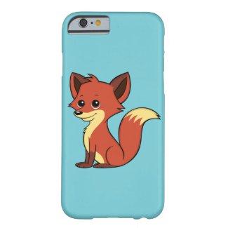 Cute Cartoon Fox Light Blue iPhone 6 Case
