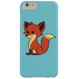 Cute Cartoon Fox Light Blue iPhone 6 Plus Case