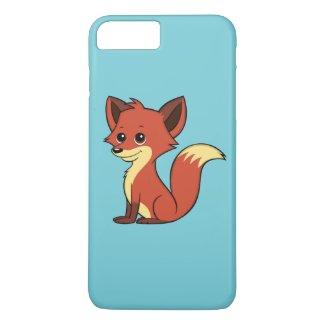 Cute Cartoon Fox Light Blue iPhone 7 Plus Case