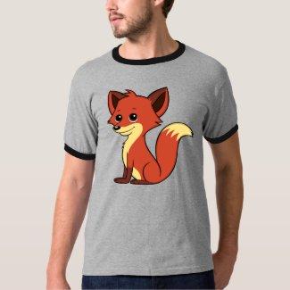 Cute Cartoon Fox Men's Ringer T-Shirt
