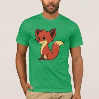 Cute Cartoon Fox Men's T-Shirt