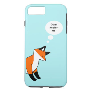 Cute cartoon fox on blue background saying quote iPhone 8 plus/7 plus case