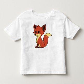 Cute Cartoon Fox Toddler T-Shirt