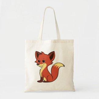 Cute Cartoon Fox Tote Bag