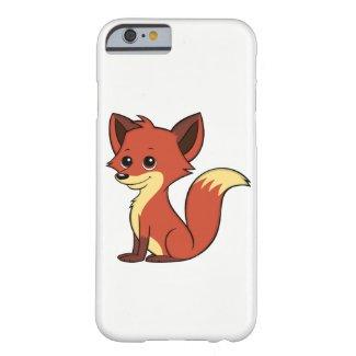 Cute Cartoon Fox White iPhone 6 Case