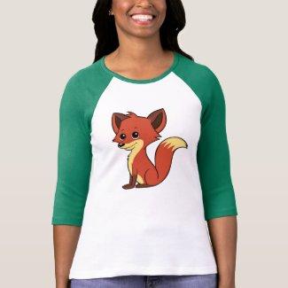 Cute Cartoon Fox Women's 3/4 Sleeve T-Shirt