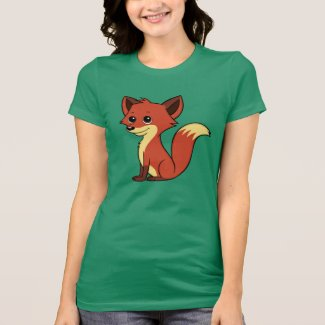 Cute Cartoon Fox Women's T-Shirt