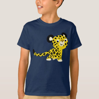 Cute Cartoon Friendly Leopard Children T-Shirt