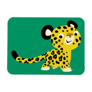Cute Cartoon Friendly Leopard Flexible Magnet