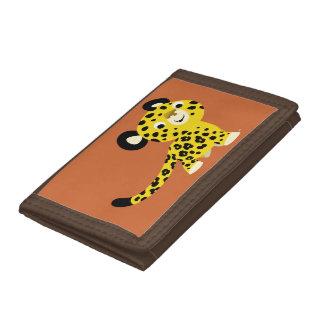 Cute Cartoon Friendly Leopard Wallet