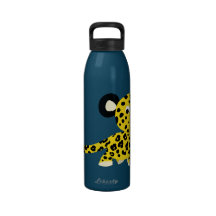 Cute Cartoon Friendly Leopard Water Bottle