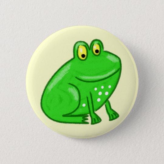 Cute Cartoon Frog Button