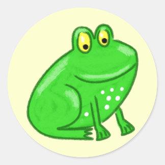 Cute Cartoon Frog Classic Round Sticker