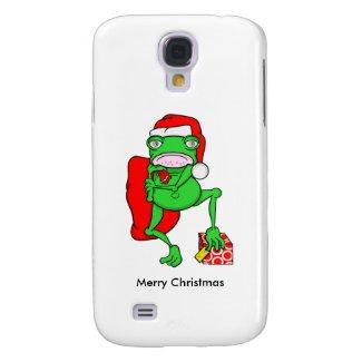 Cute Cartoon Frog Dressed As Santa Samsung Galaxy S4 Covers